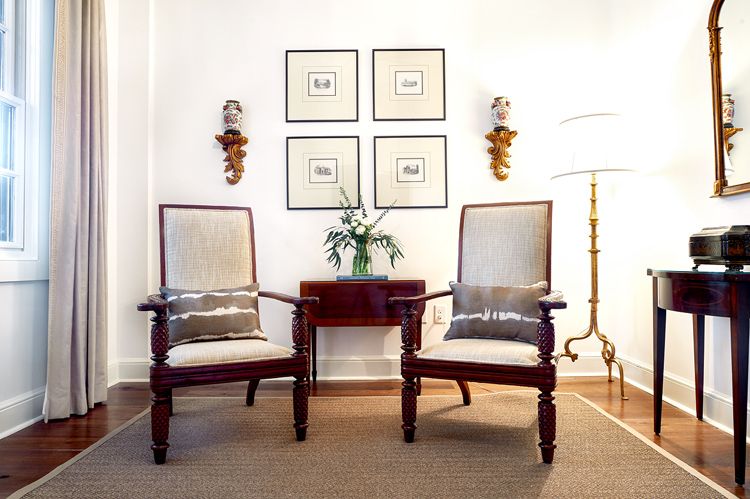 Sitting area of our Charleston City Market Hotel Suite