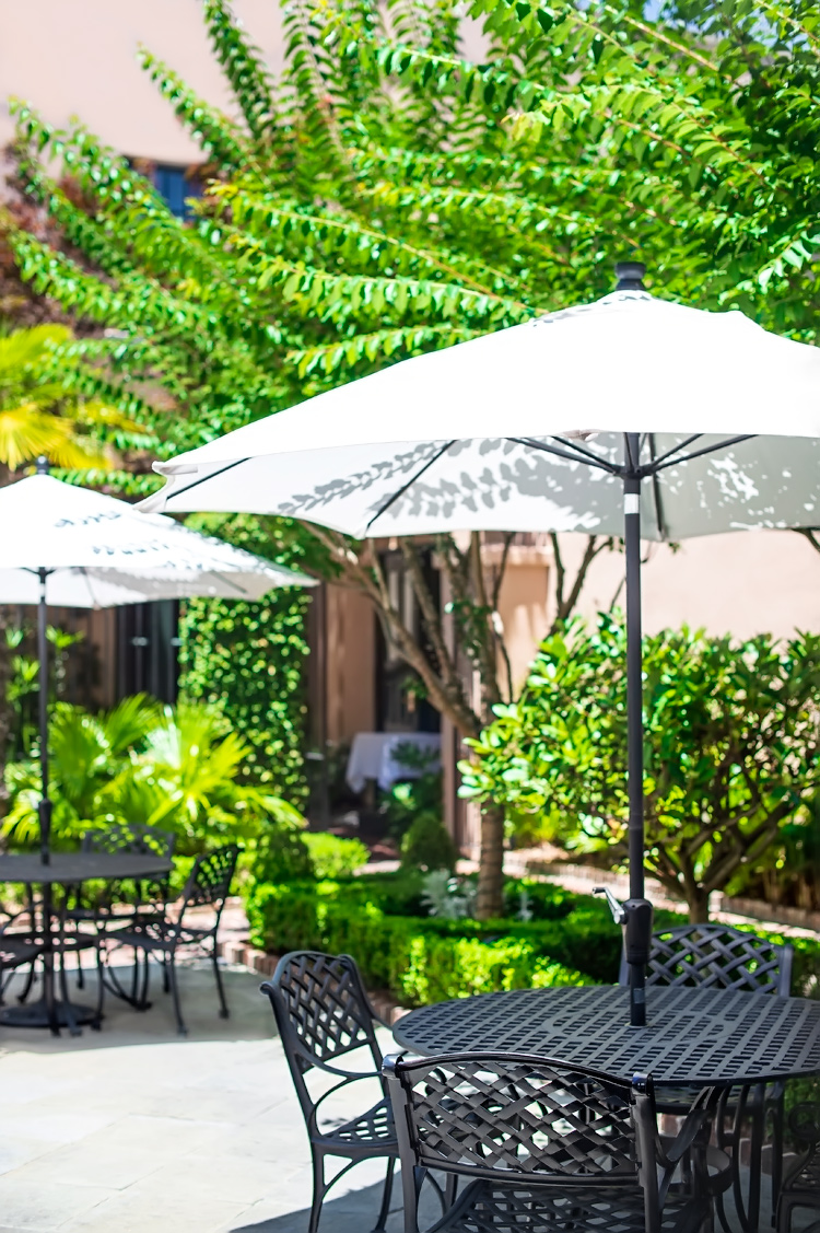 The Hidden Courtyard at Planters Inn in the Charleston Historic District