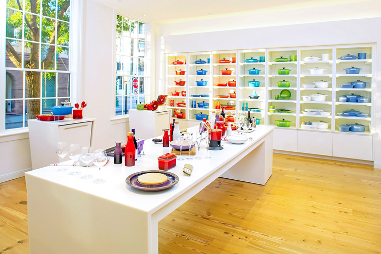The Le Creuset Store is located inside Planters Inn Charleston hotel