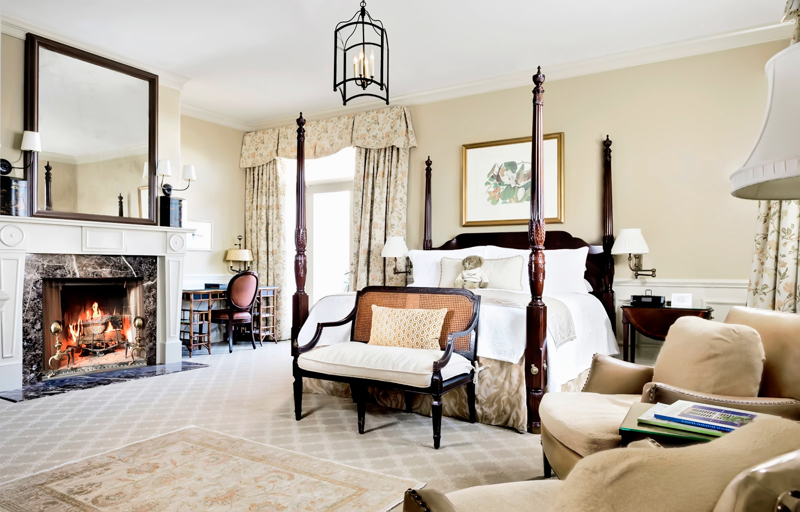 A Charleston hotel penthouse room with private terrace