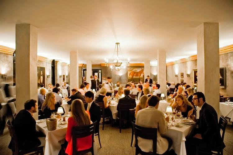 Restaurant with velvet walls
