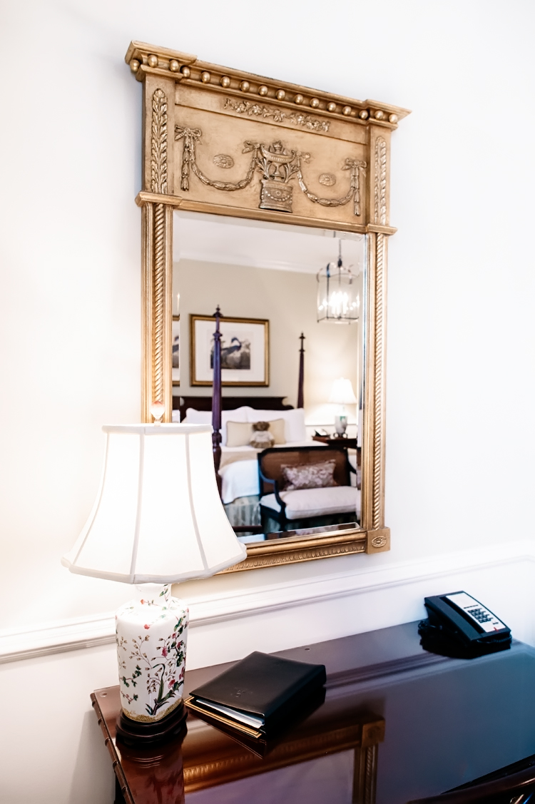 Beautiful Mirror in our Premier Charleston King Room