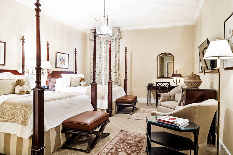 charleston hotel room with two beds