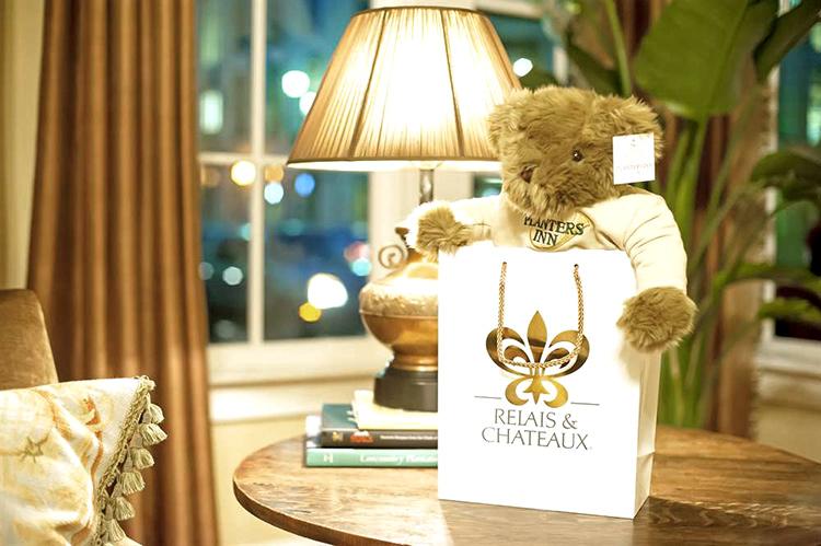 hotel teddy bear mascot
